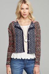 Free People Cardigan Checker Printed - Lyst