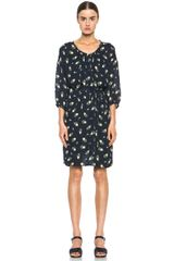 Girl. By Band Of Outsiders Falling Rose Aline Dress - Lyst