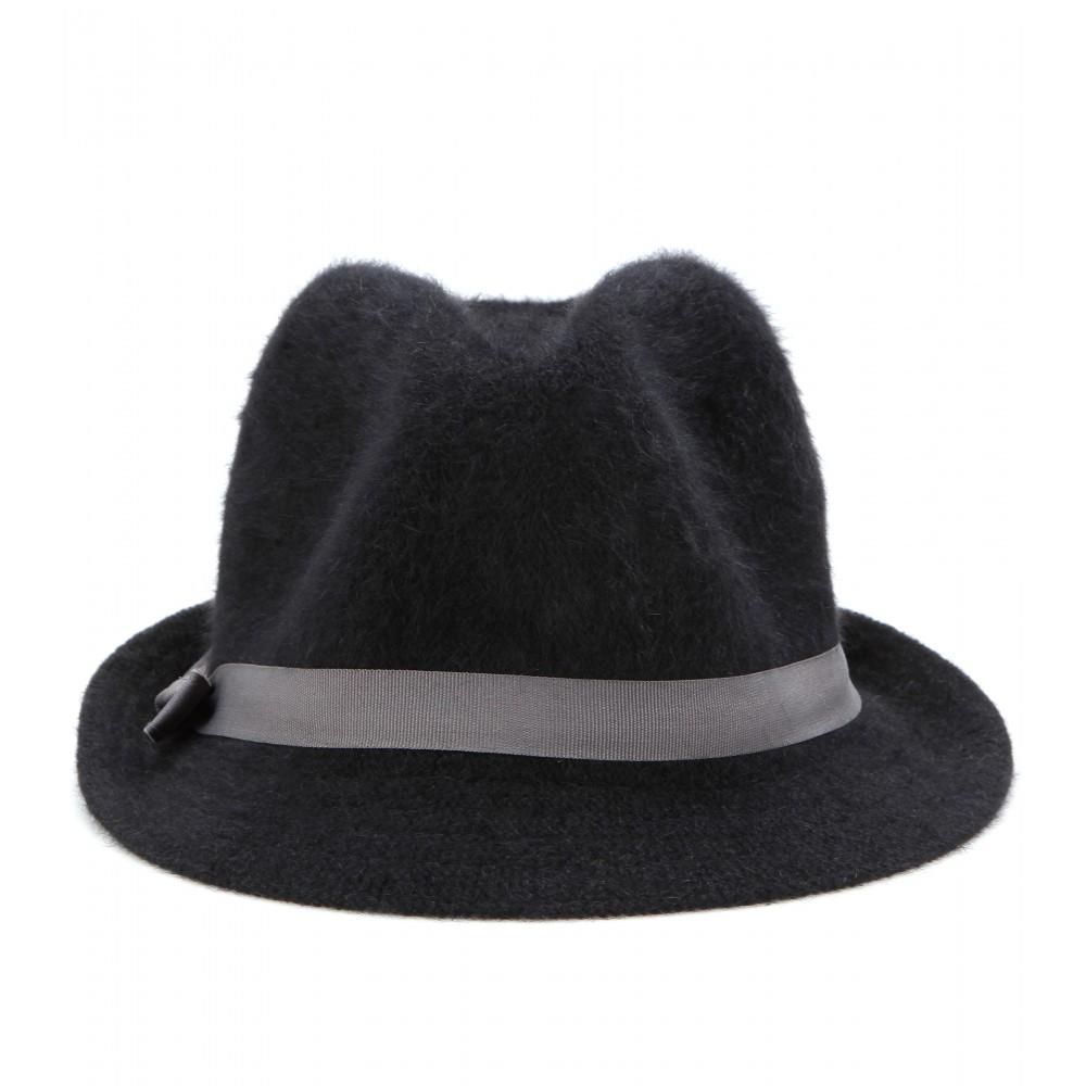 e672aa984cf Lyst - Hat Attack Angora Fedora in Black