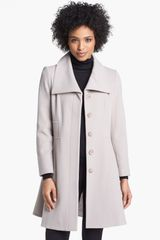 Helene Berman Wing Collar Wool Blend Coat - Lyst