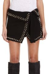 Isabel Marant Loop Studded Wrap Skirt - Lyst