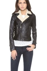 Joie Ailey E Leather Jacket - Lyst