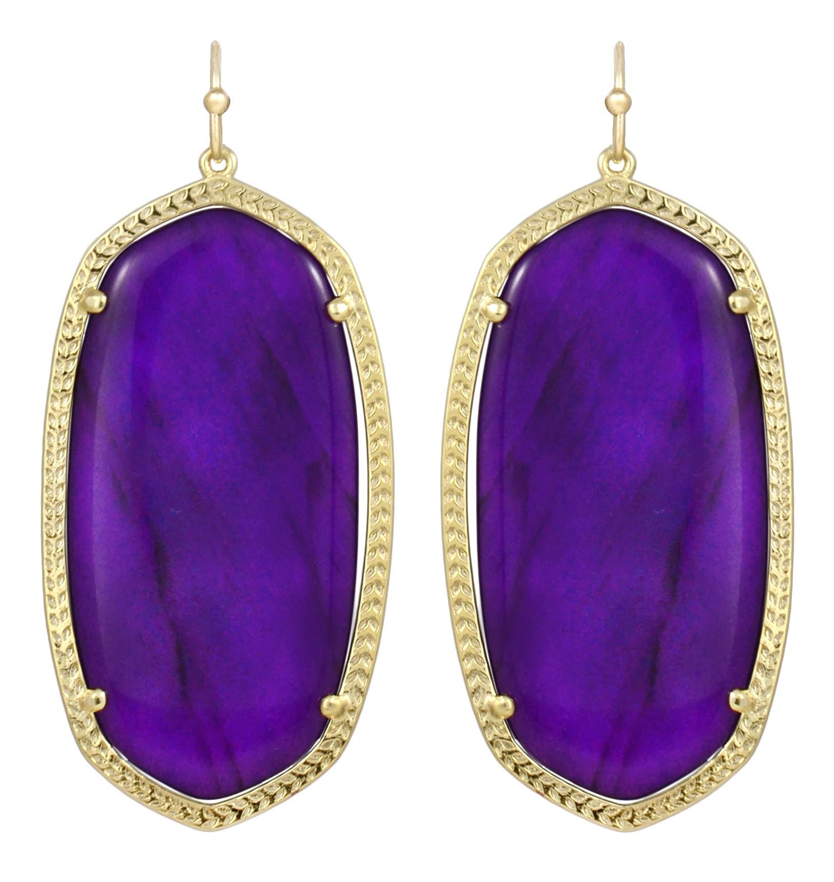 Kendra Scott Danielle Earrings Purple Jade In Purple Lyst