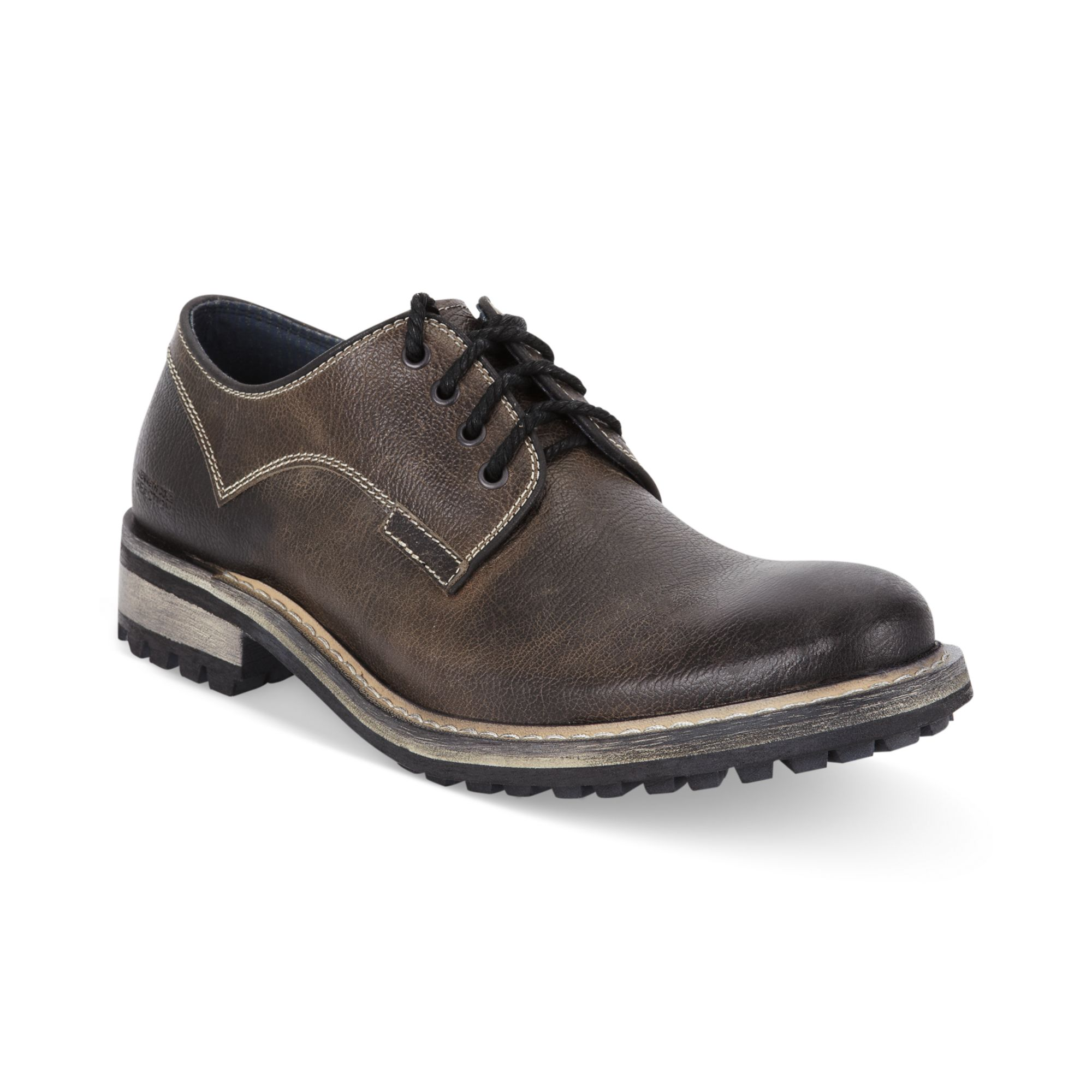 kenneth cole reaction court less ter lace up shoes in gray