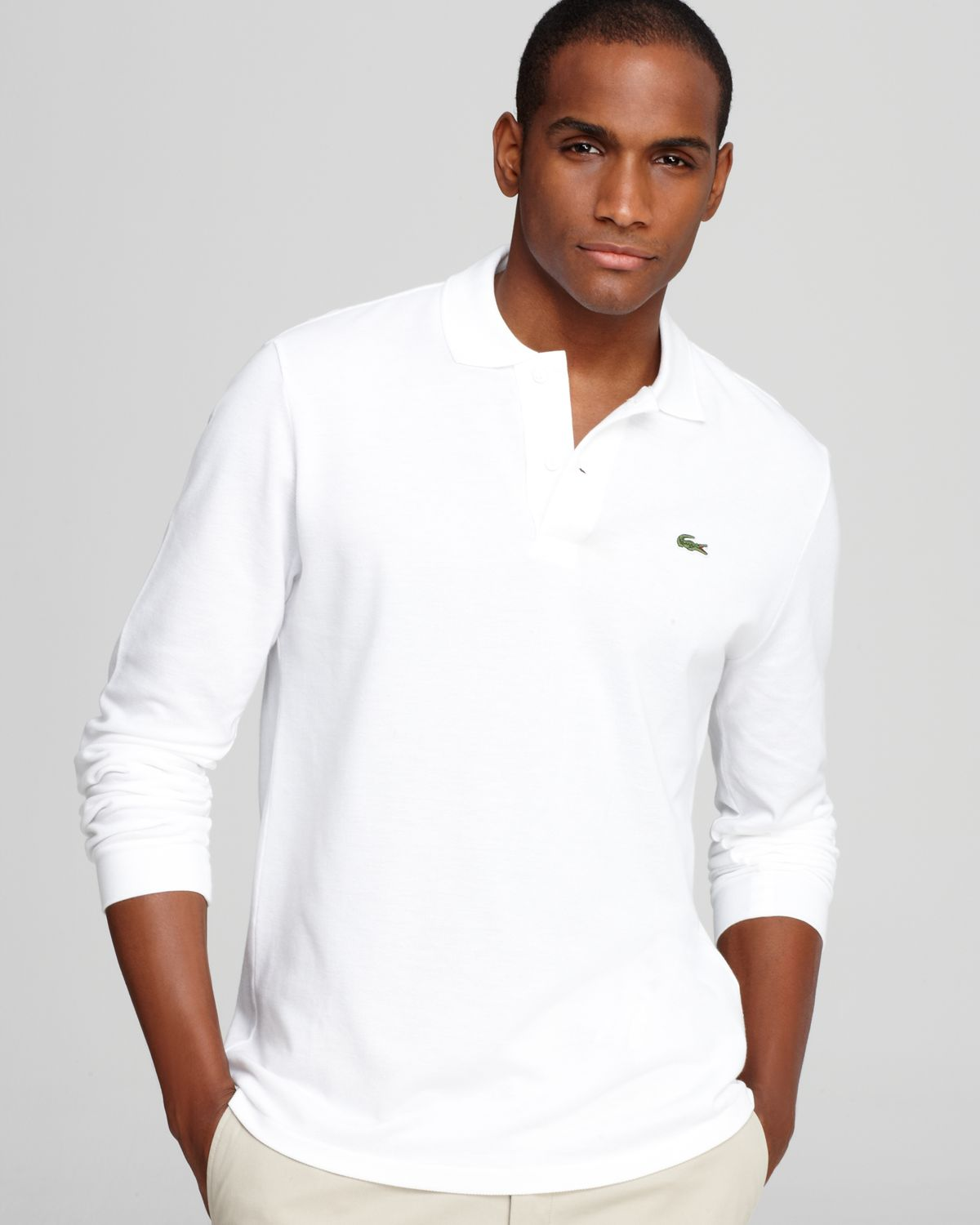 Lyst Lacoste Long Sleeve Pique Polo Classic Fit In