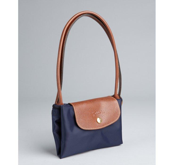 Longchamp Le Pliage Mini Nylon Tote Bag, Navy Blue