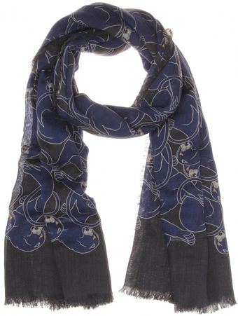 Marc Jacobs Cashmere and Silkblend Printed Scarf - Lyst