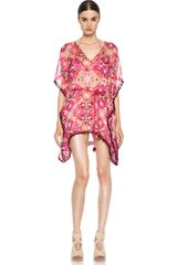 Matthew Williamson Tula Lace Mousseline Kaftan - Lyst