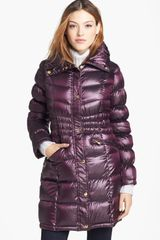 Michael by Michael Kors Packable Satin Shell Down Coat - Lyst