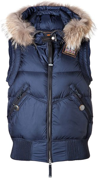 Parajumpers Bear Down Vest In Navy - Lyst