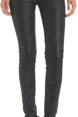 Rag & Bone Beaded Leather Hyde Pants Beaded Leather - Lyst