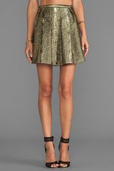 Sachin & Babi Sachin Babi Belle Skirt in Metallic Gold - Lyst