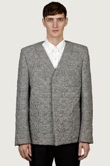 Thom Browne Mens Star Quilted Prince Of Wales Jacket - Lyst
