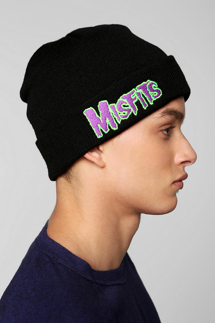 Lyst - Urban Outfitters Misfits Beanie in Black for Men 1a9657366e9