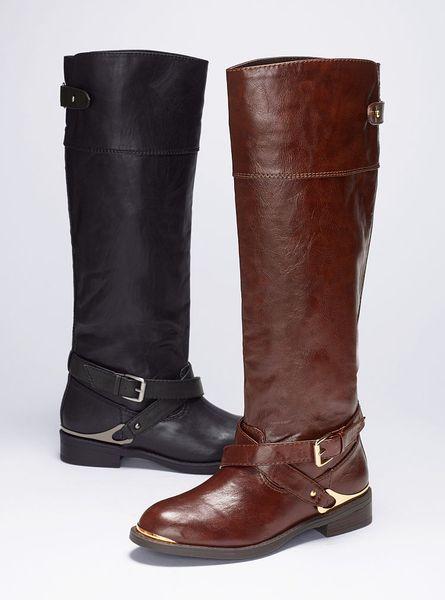 Victoriau0026#39;s Secret Neves Riding Boot In Brown (dark Brown ...