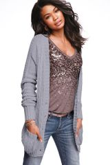 Victoria's Secret Slouchy Cable Cardi Sweater - Lyst