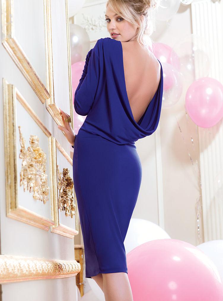 Victoria 39 S Secret Drape Back Dress In Blue Royal Sapphire