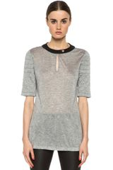 Yigal Azrouel Viscose Jersey Top - Lyst