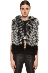 Yigal Azrouel Raccoon Hooded Fur Vest - Lyst