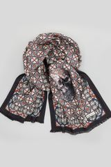 Alexander McQueen Skullprint Stained Glass Silk Scarf - Lyst