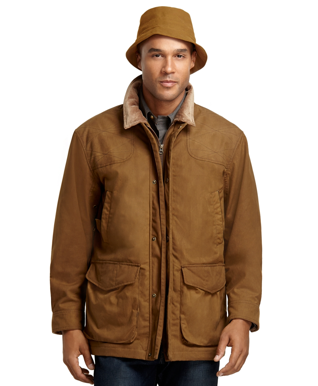 Brooks brothers And Beretta Wax Jacket in Brown for Men ...