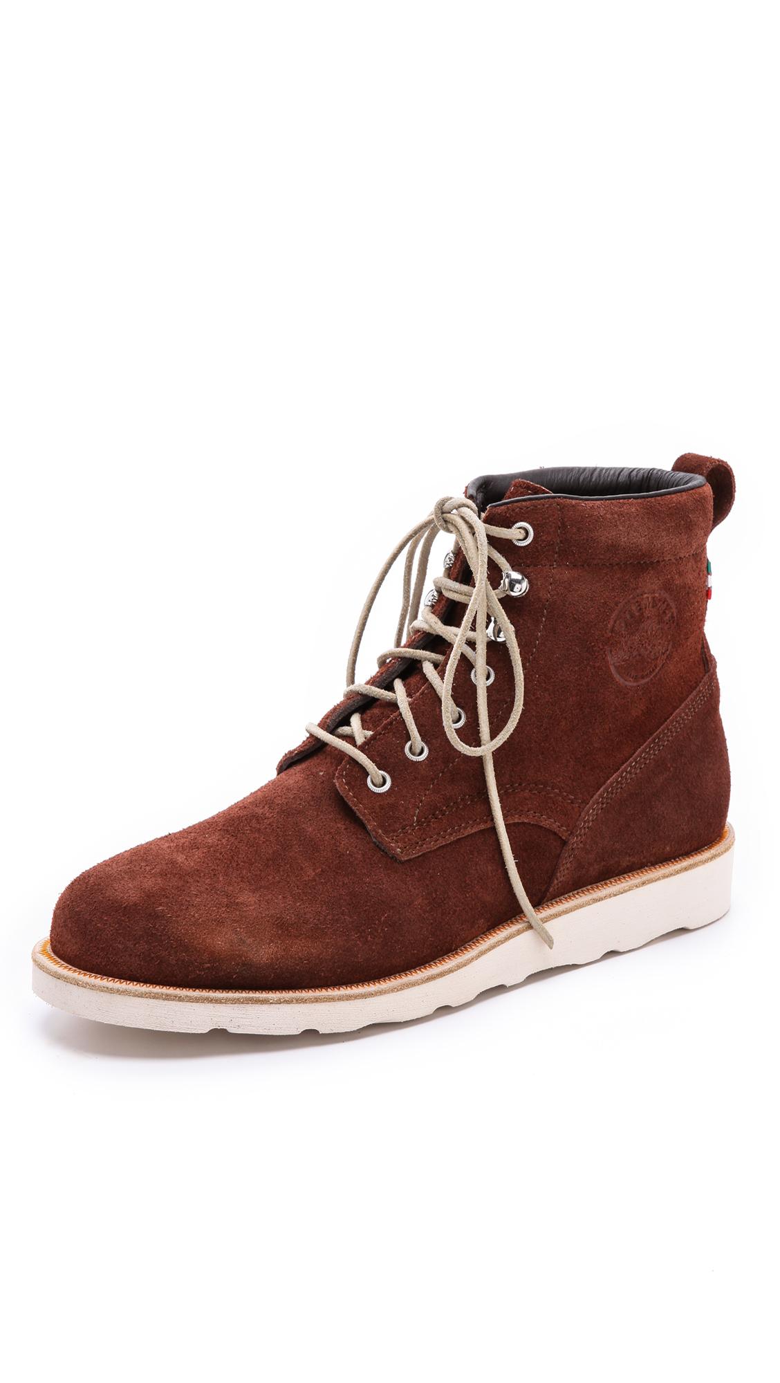 diemme firenze combat boots in brown for brick lyst