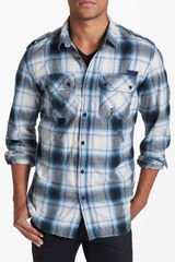 Diesel Sagin Plaid Cotton Shirt - Lyst