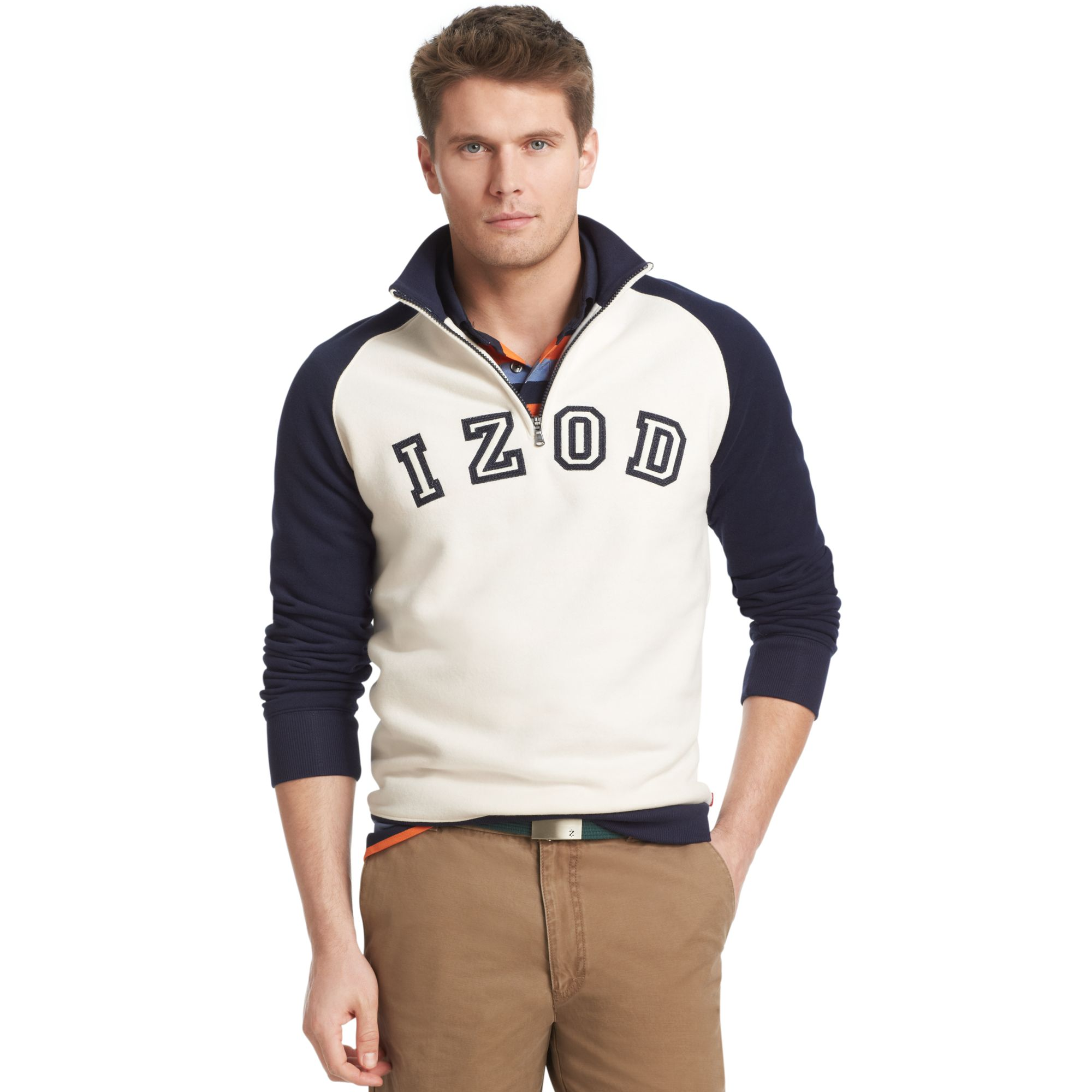 Lyst Izod Big And Tall Sweatshirt Logo Quarterzip Mock