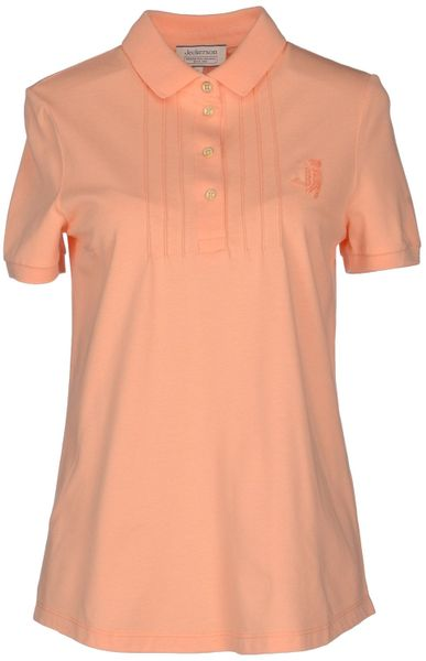 Jeckerson Polo Shirt In Pink Salmon Pink Lyst