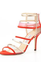 Jimmy Choo Mixer Strappy Cage Sandal Orange - Lyst
