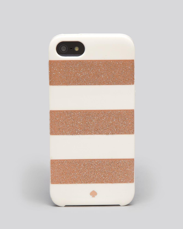 kate spade new york : Pink Iphone 5 Case Glitter Jubilee Stripe : Lyst