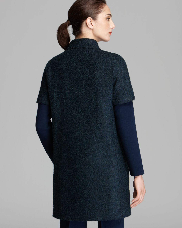 Max mara studio Knut Short Sleeve Coat in Green | Lyst
