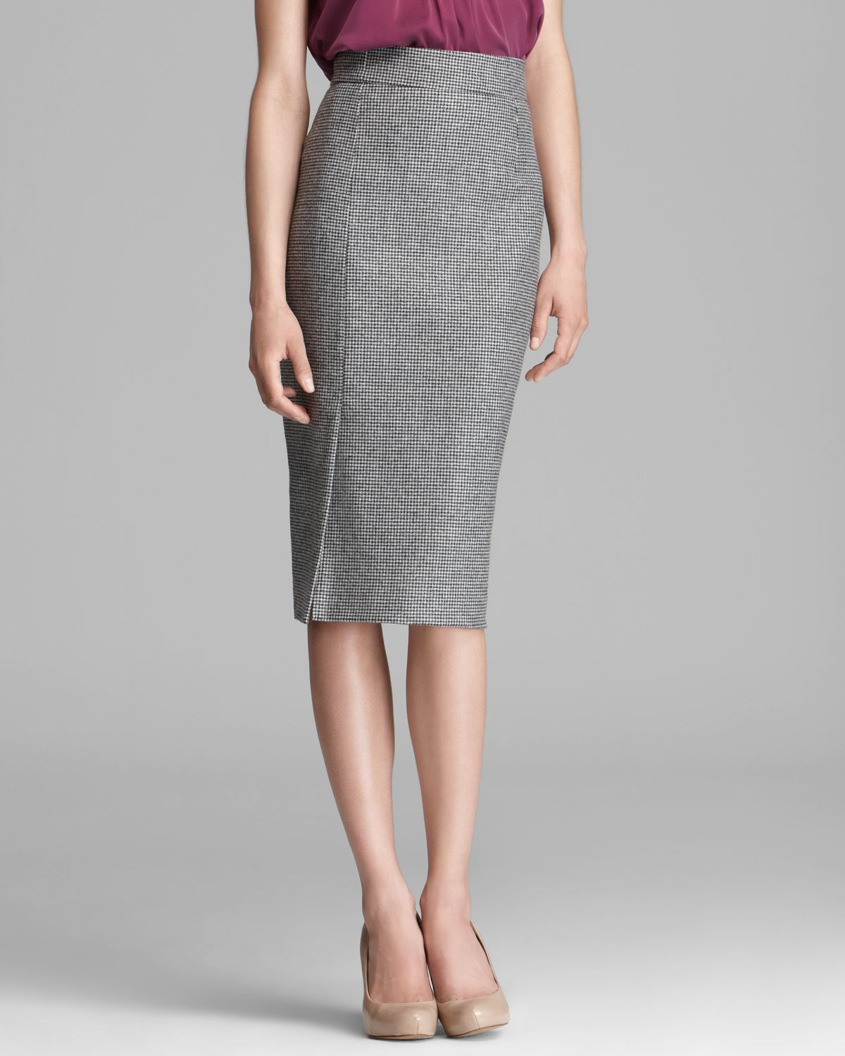 Max mara studio Europa Pencil Skirt in Gray | Lyst