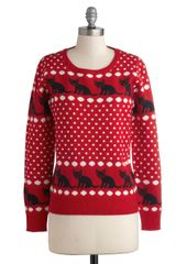 ModCloth All Purrpose Sweater - Lyst