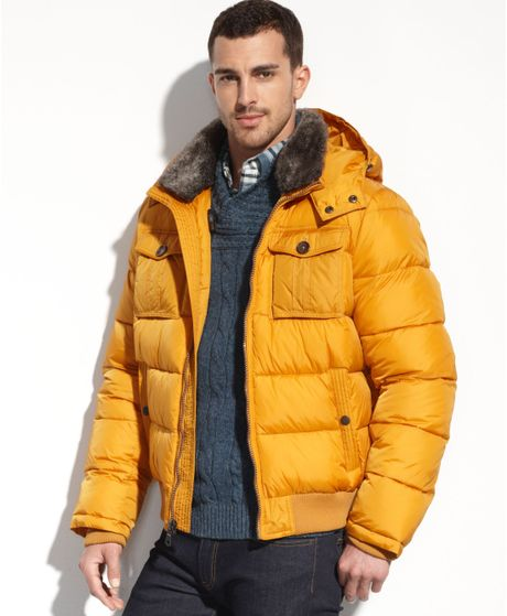 Tommy Hilfiger Double Pocket Faux Furtrim Puffer