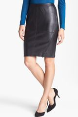 Trouvé Trouvé Leather Front Pencil Skirt - Lyst