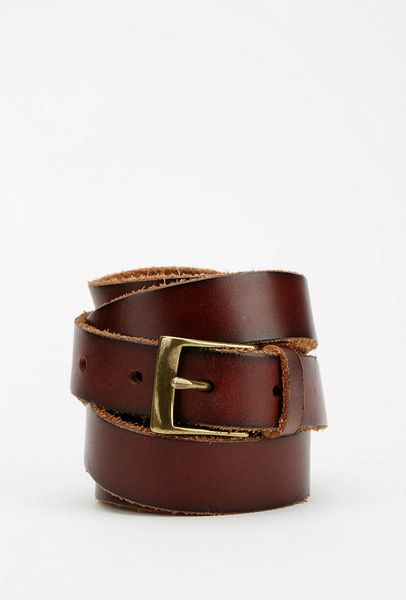 outfitters wrap leather belt in brown lyst