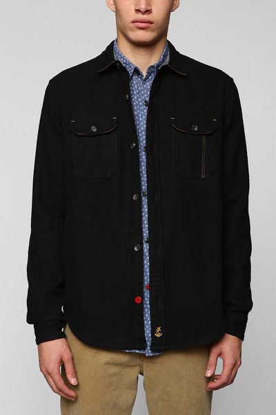 Urban Outfitters Cpo Wool Shirt Jacket In Blue For Men