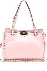 Valentino Rockstud Leather Trapeze Bag - Lyst
