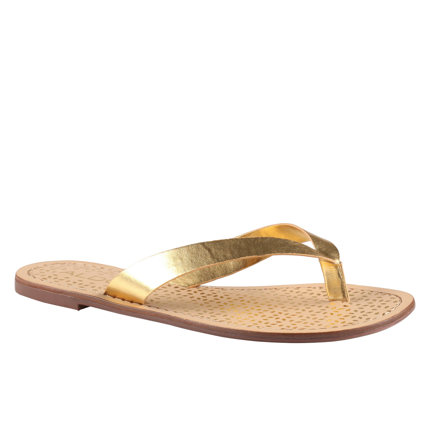 Gold Flat Shoes Womens
