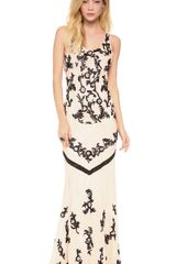 Alice + Olivia Alice Olivia Abigail Scoop Neck Fitted Gown - Lyst