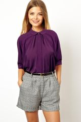 Asos Blouse with Pleat Back and Raw Edge Detail - Lyst