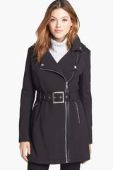 BCBGeneration Asymmetrical Belted Softshell Jacket - Lyst