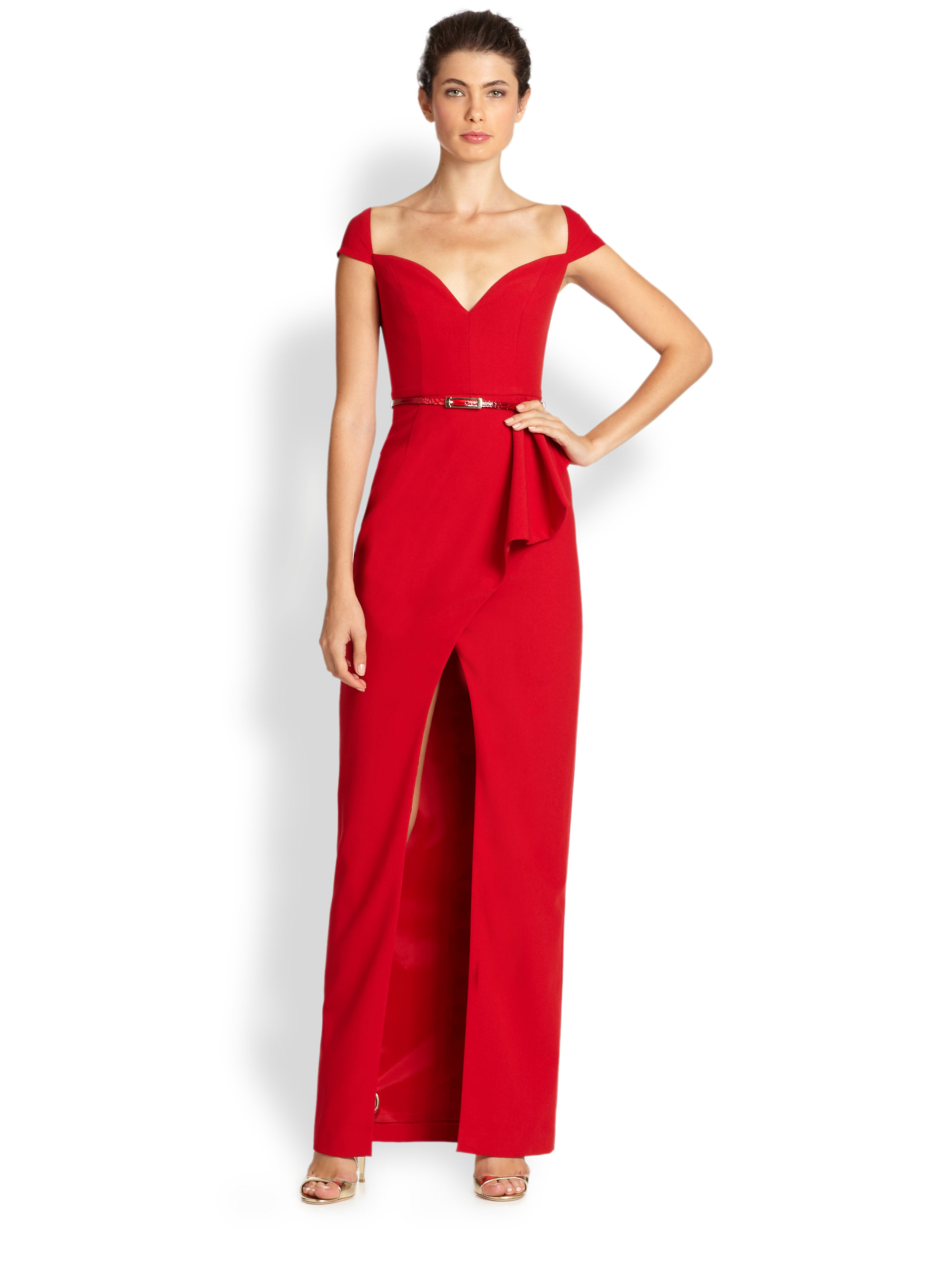 Lyst - Black Halo Prestige Gown in Red