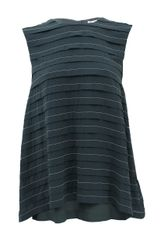 Brunello Cucinelli Sleeveless Monili Stripe Top - Lyst