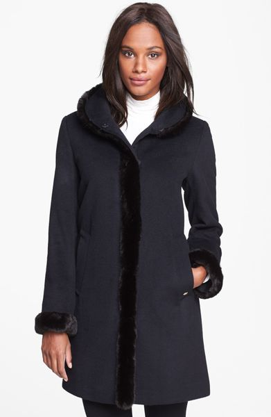 Ellen Tracy Fox Fur Trim Coat | Homewood Mountain Ski Resort