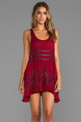 Free People Trapeze Slip Dress in Burgundy - Lyst