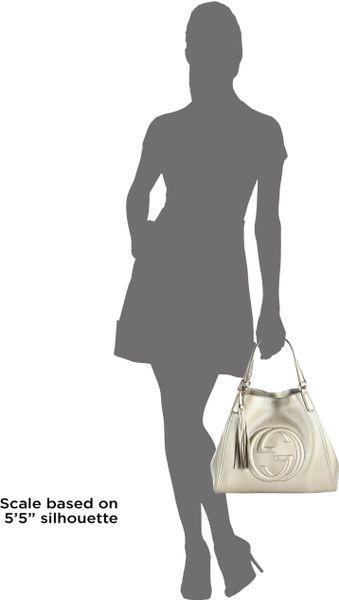 Gucci Twill Leather Large Shoulder Bag 74