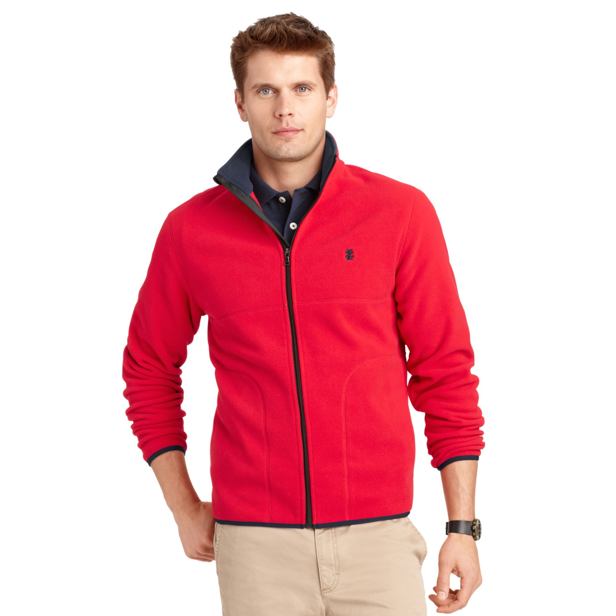 Izod Big And Tall Jacket Polar Fleece Full Zip Jacket In