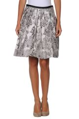 Jil Sander Navy Knee Length Skirt - Lyst